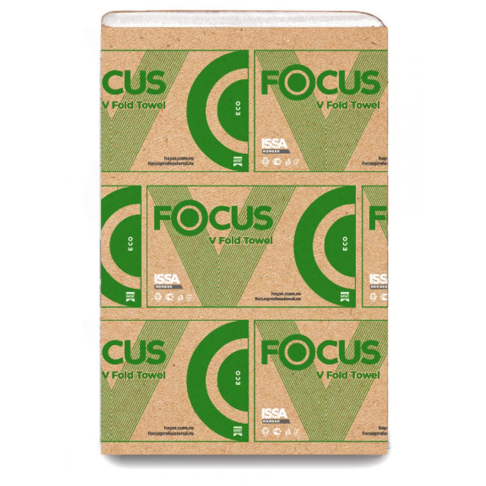 5049975 Бумажные листовые полотенца Focus Eco 23x20,5x200 V-сложение