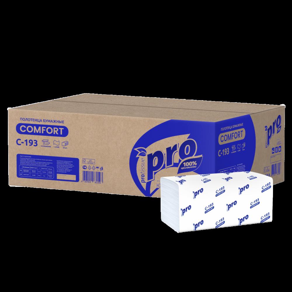 С193 Бумажные листовые полотенца PROtissue.