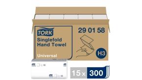 290158 Бумажные листовые полотенца Tork Universal Singlefold ZZ - сложения