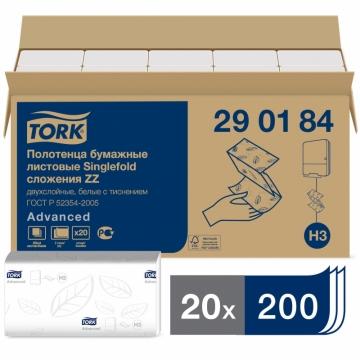 290184 Бумажные листовые полотенца Tork Advanced Singlefold ZZ - сложения