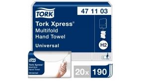 471103 Бумажные листовые полотенца Tork Xpress® Universal сложения Multifold