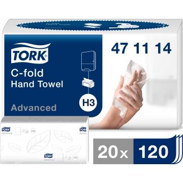 471114 Бумажные листовые полотенца Tork Advanced Singlefold C-сложения