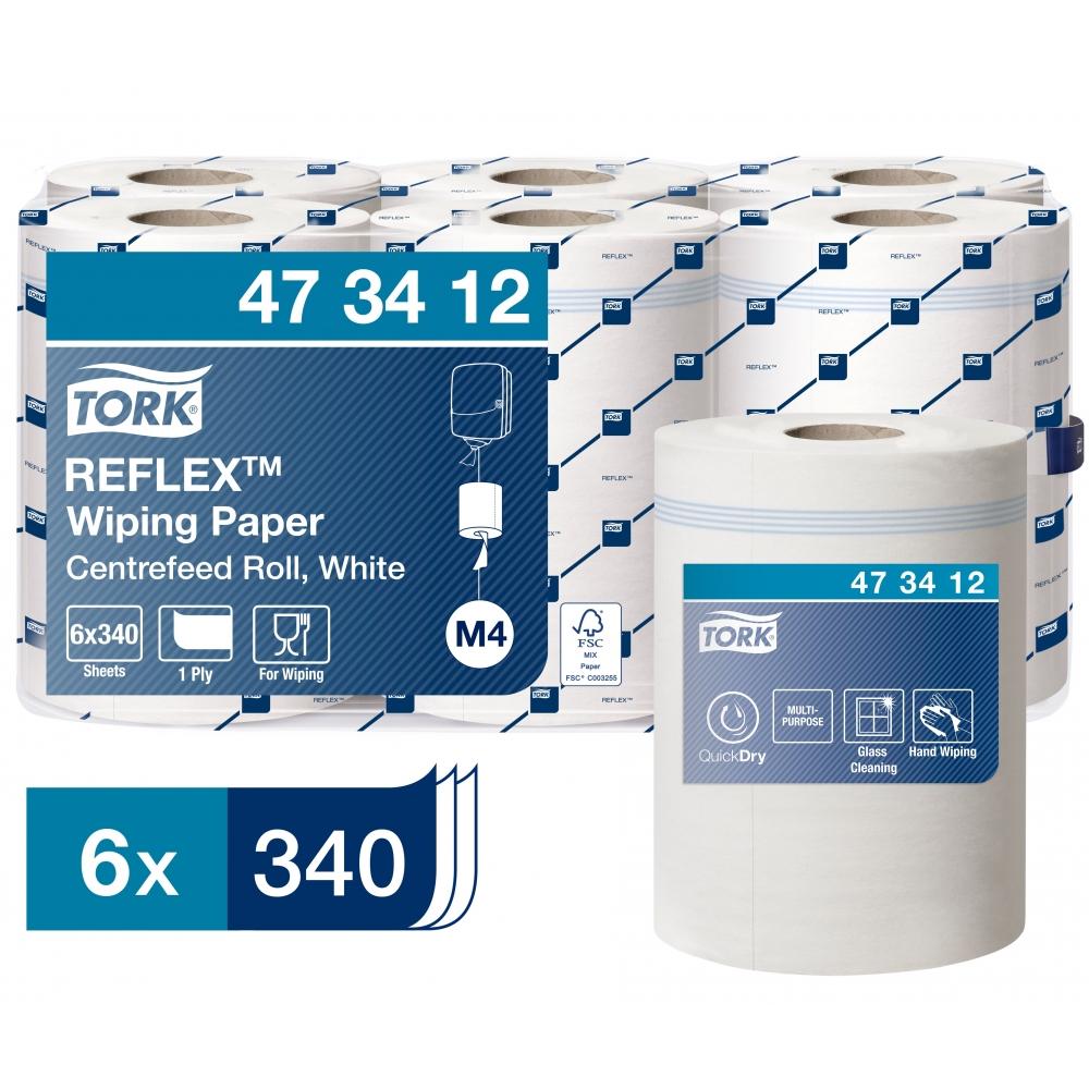 473472 Протирочная бумага в рулоне с центральной вытяжкой Tork Reflex™ Advanced