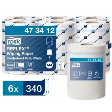 473412 Протирочная бумага в рулоне с центральной вытяжкой Tork Reflex™ Premium
