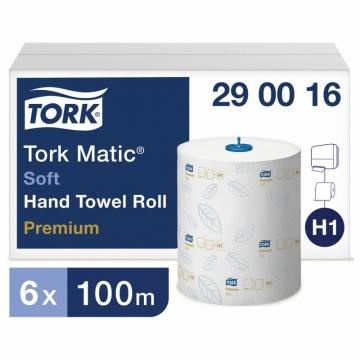 290016 Бумажные рулонные полотенца Tork Matic® Premium мягкие