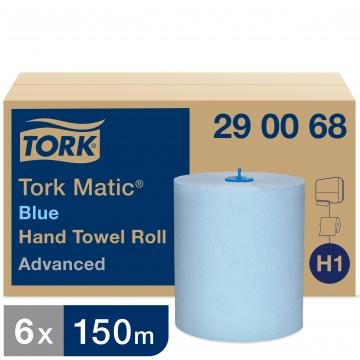 290068 Бумажные рулонные полотенца Tork Matic® Advanced синие