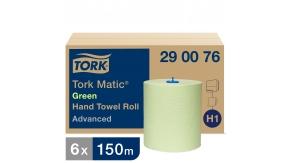 290076 Бумажные рулонные полотенца Tork Matic® Advanced зеленый