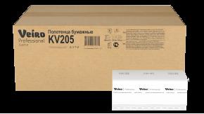 KV205 Бумажные листовые полотенца V-сложение Veiro Professional Comfort