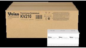 KV210 Бумажные листовые полотенца V-сложение Veiro Professional Comfort