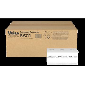 KV211 Бумажные полотенца V-сложение Veiro Professional Comfort
