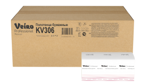 KV306 Бумажные листовые полотенца V-сложение Veiro Professional Premium