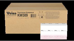 KW309 Бумажные листовые полотенца W-сложение Veiro Professional Premium