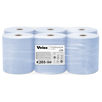 K205 Бумажные рулонные полотенца синего цвета Veiro Professional Comfort
