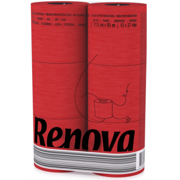 "RT 1726 Туалетная бумага Red ""Renova RedLabel"" 2 слоя, 6 рулонов"