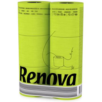 "RT 1726 Туалетная бумага Green ""Renova RedLabel"" 2 слоя, 6 рулонов"