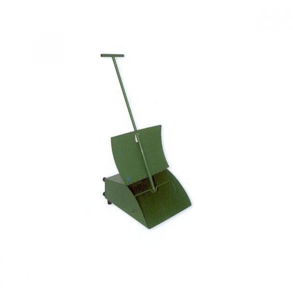 400134 Совок ловушка с крышкой металл (уличный) (зеленый)