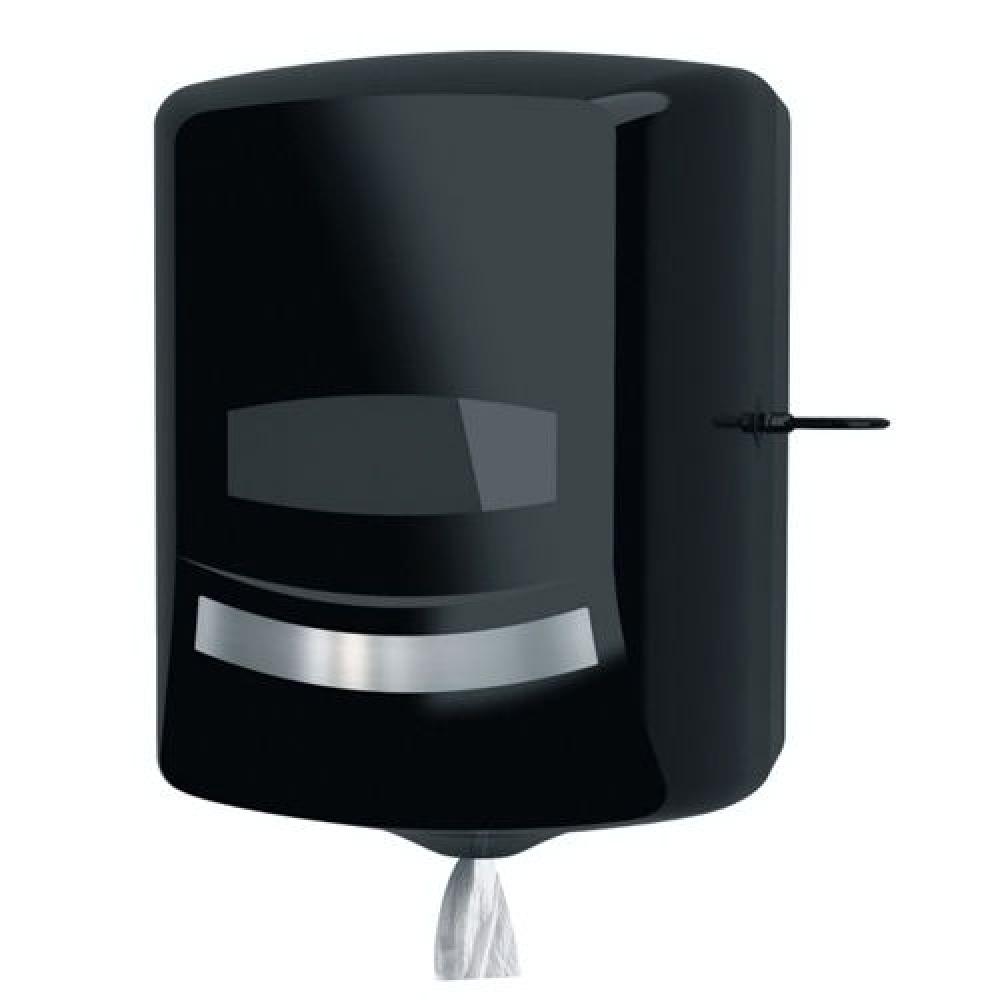 Ksitex ТН-8030В Диспенсер для рулонных бумажных полотенец (черный). Серия Элит