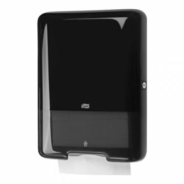 553008 Tork держатель для листовых полотенец Singlefold сложения ZZ и С черный