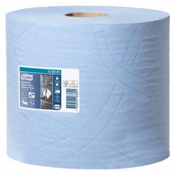130081 Tork протирочная бумага суперпрочная в рулоне со съемной втулкой голубая