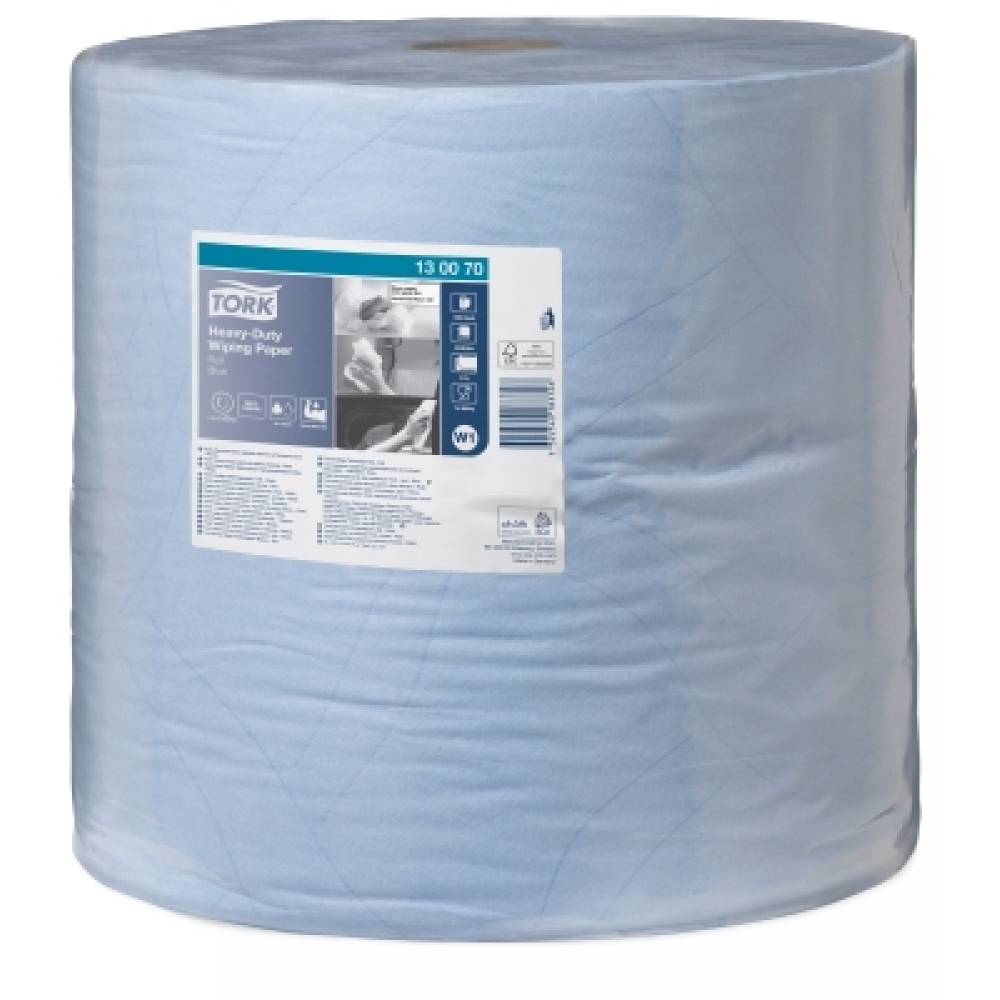130070 Tork протирочная бумага повышенной прочности в рулоне голубая