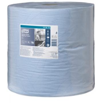 130080 Tork протирочная бумага суперпрочная в рулоне голубая