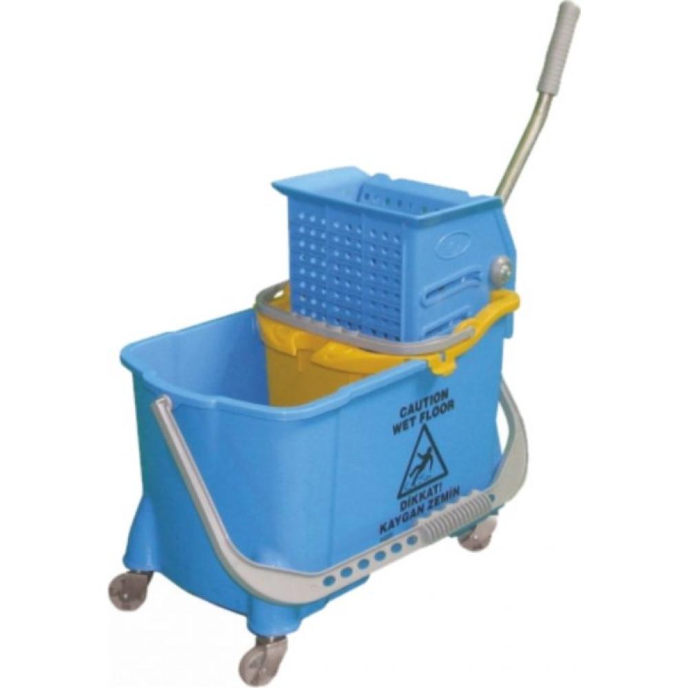 401914 Ведро 24 литра с отжимом на колесах со сьемным ведром для грязной воды