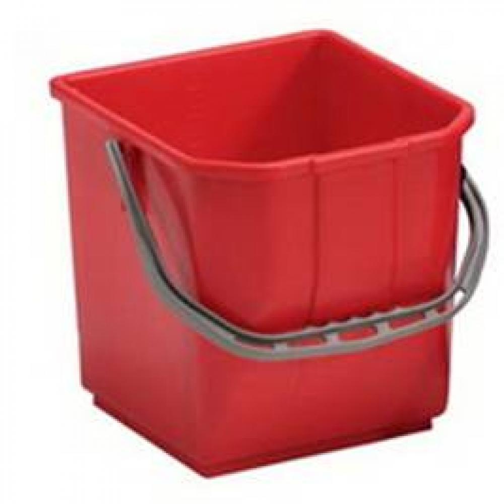 401933 ведро пластиковое 18 литров квадратное красное