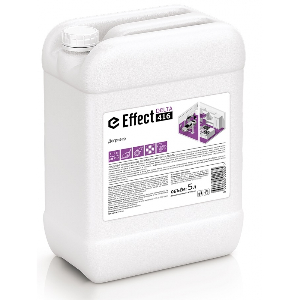 416 Effect DELTA 5л универс. ср-во дегризер (ген. уборка, для кожи - с осторожностью)) 5л 1/2