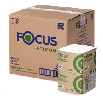 5051792 Салфетки Focus OPTIMUM 1слой, 250 листов 24*18