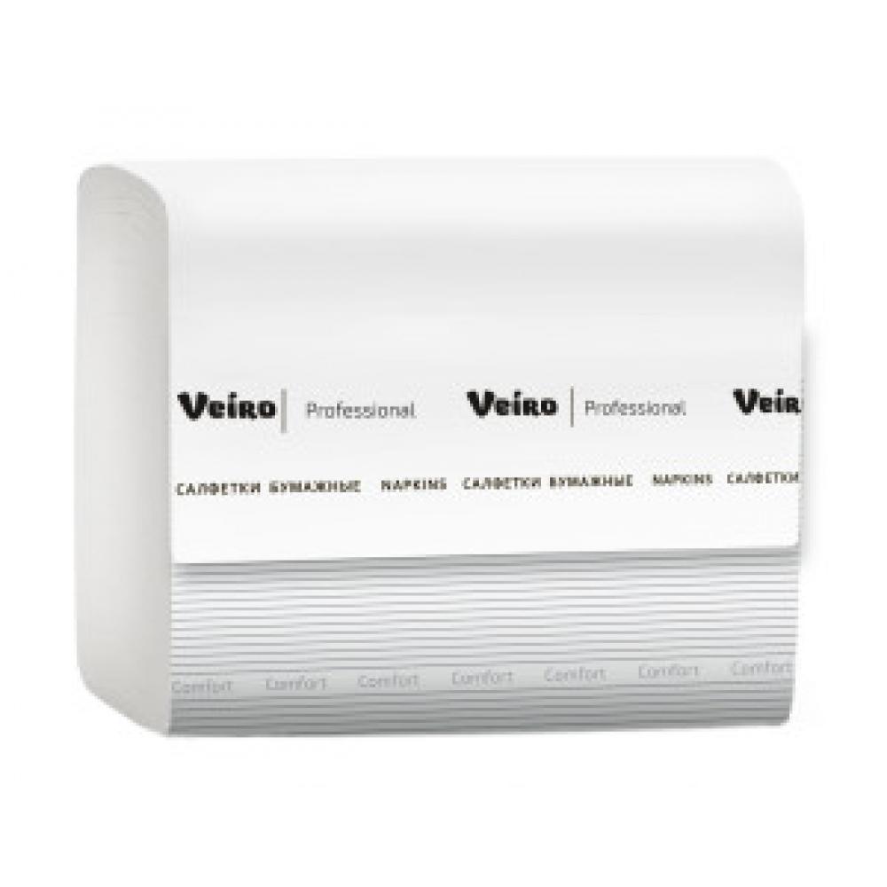 NV211 Бумажные салфетки в листах Veiro Professional Comfort 2 слоя, 220 листов