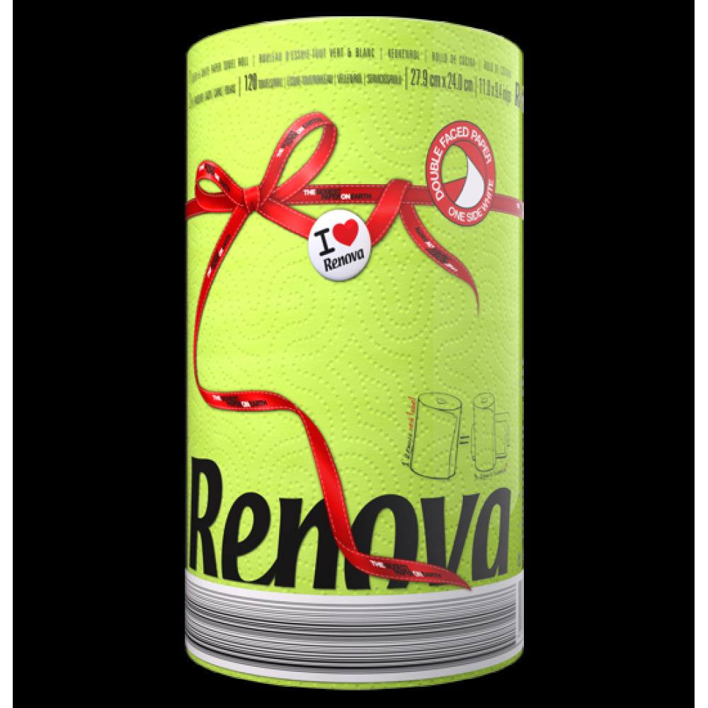 "RP 2921 Полотенца бумажные ""Renova Red Label "" Green 2 слоя, 1 рулон"