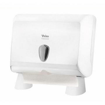 Диспенсер настольный для листовых бумажных полотенец, белый PRIMA mini