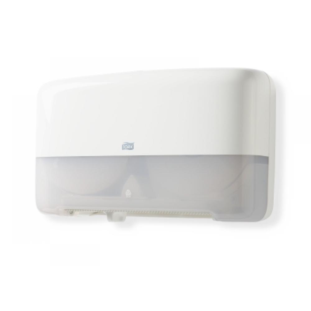 555500 Tork двойной держатель для туалетной бумаги в мини-рулонах белый