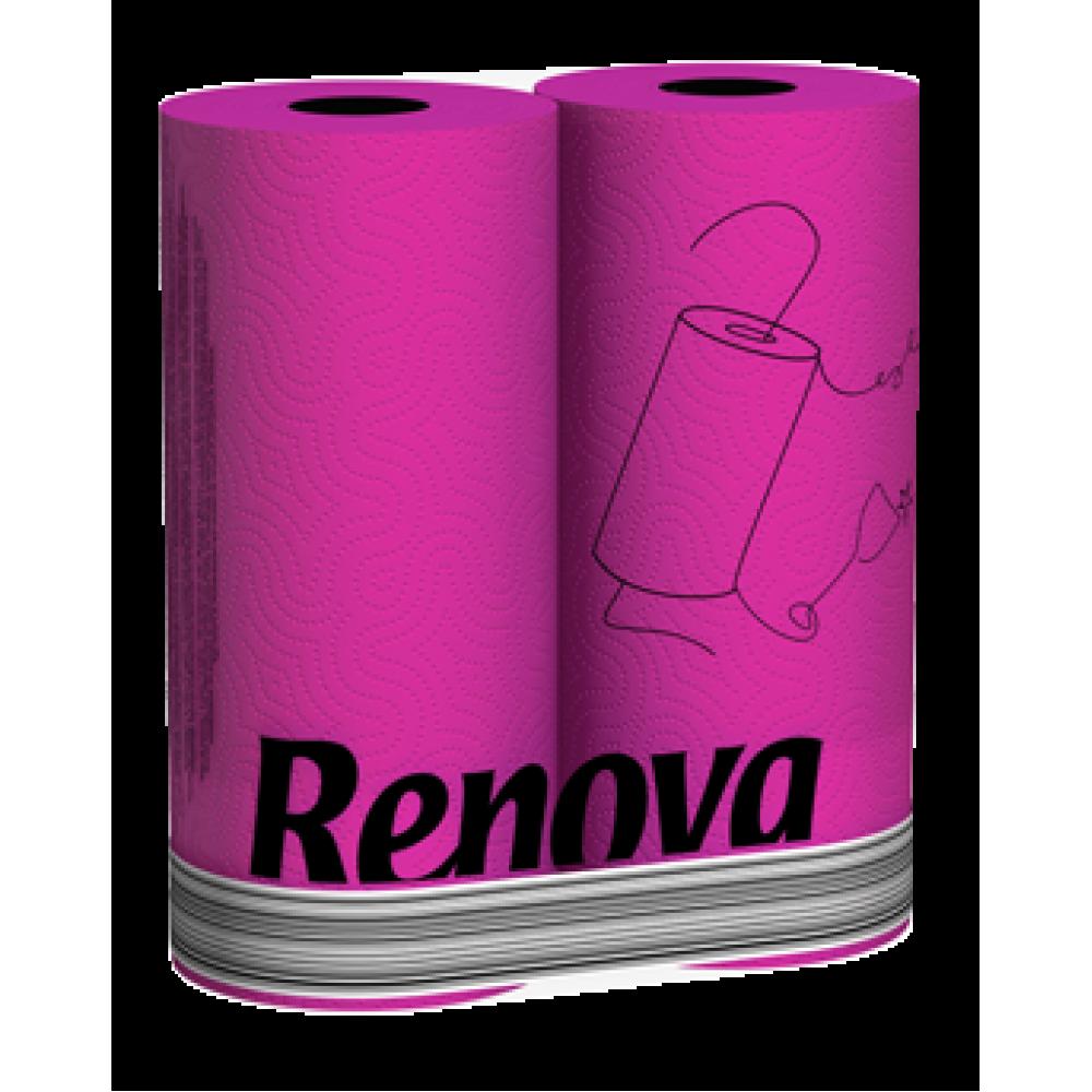 """RP 1922 Полотенца бумажные """"Renova Fucia"""" 2 слоя, 2 рулона"""