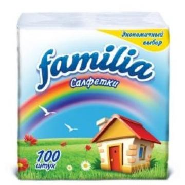 5039302 Салфетки Familia 1слойные,100 листов 24*23
