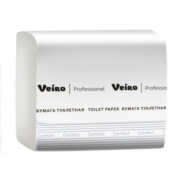 TV201 Листовая туалетная бумага Veiro Professional Comfort 2 слоя 250 листов