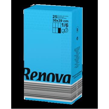 "RS 182 Салфетки бумажные ""Renova Red Label 2Р 1/6"" Blue 18 пачек"