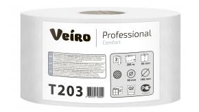T203 Туалетная бумага в средних рулонах Veiro Professional Comfort 2слоя 200 метров