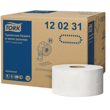 120231 Tork туалетная бумага в мини рулонах