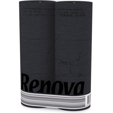 RT 1736 Туалетная бумага Renova Black 3 слоя, 6 рулонов