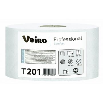 T201 Туалетная бумага в средних рулонах Veiro Professional Comfort 1 слой 200 метров