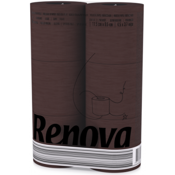 "RT 1736 Туалетная бумага ""Renova Brown"" 3 слоя, 6 рулонов"