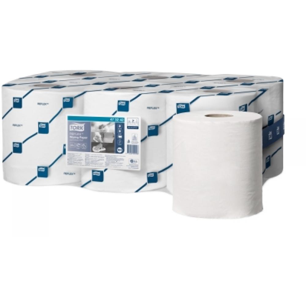473242 (401094) Tork Reflex протирочная бумага в рулоне с центр. вытяжкой* (со съемной втулкой)