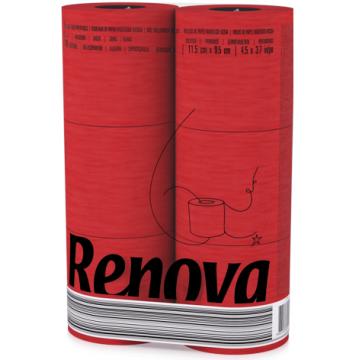 "RT 1736 Туалетная бумага ""Renova Red"" 3 слоя, 6 рулонов"