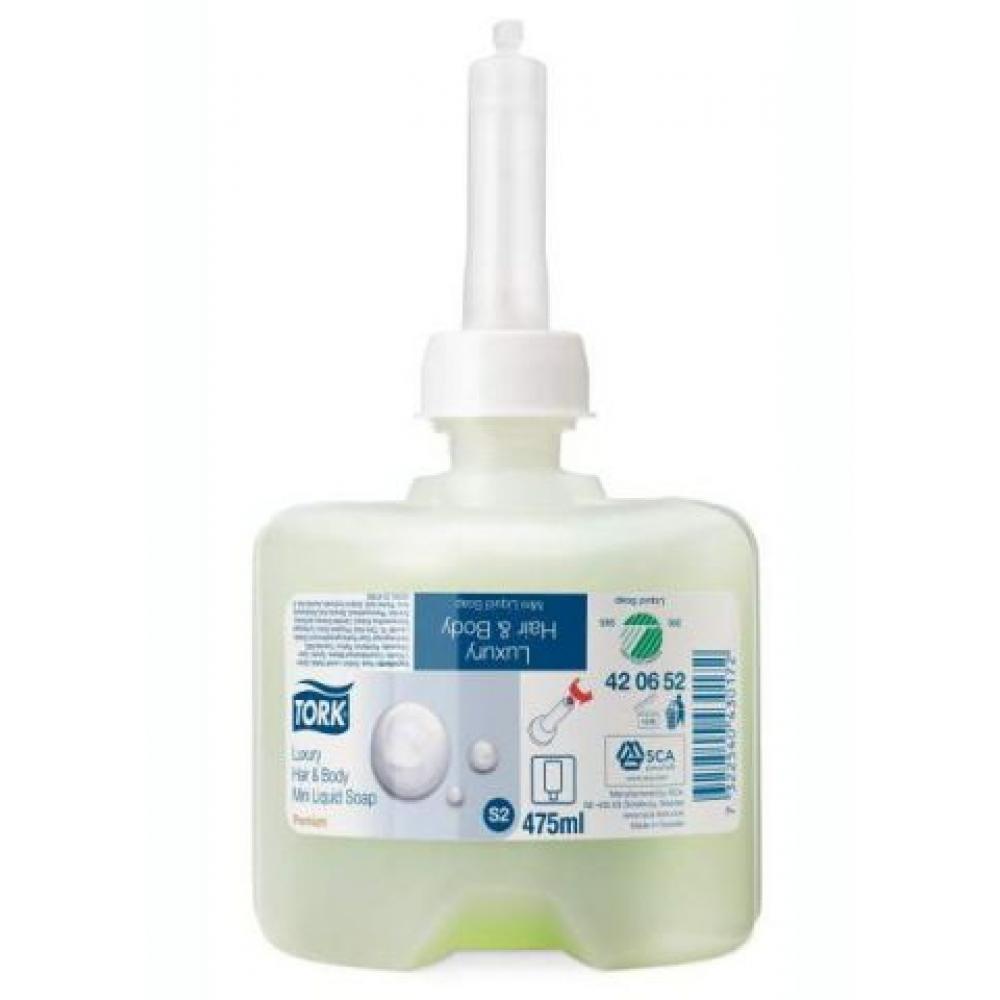 420652 Tork жидкое мыло-шампунь люкс для тела и волос мини