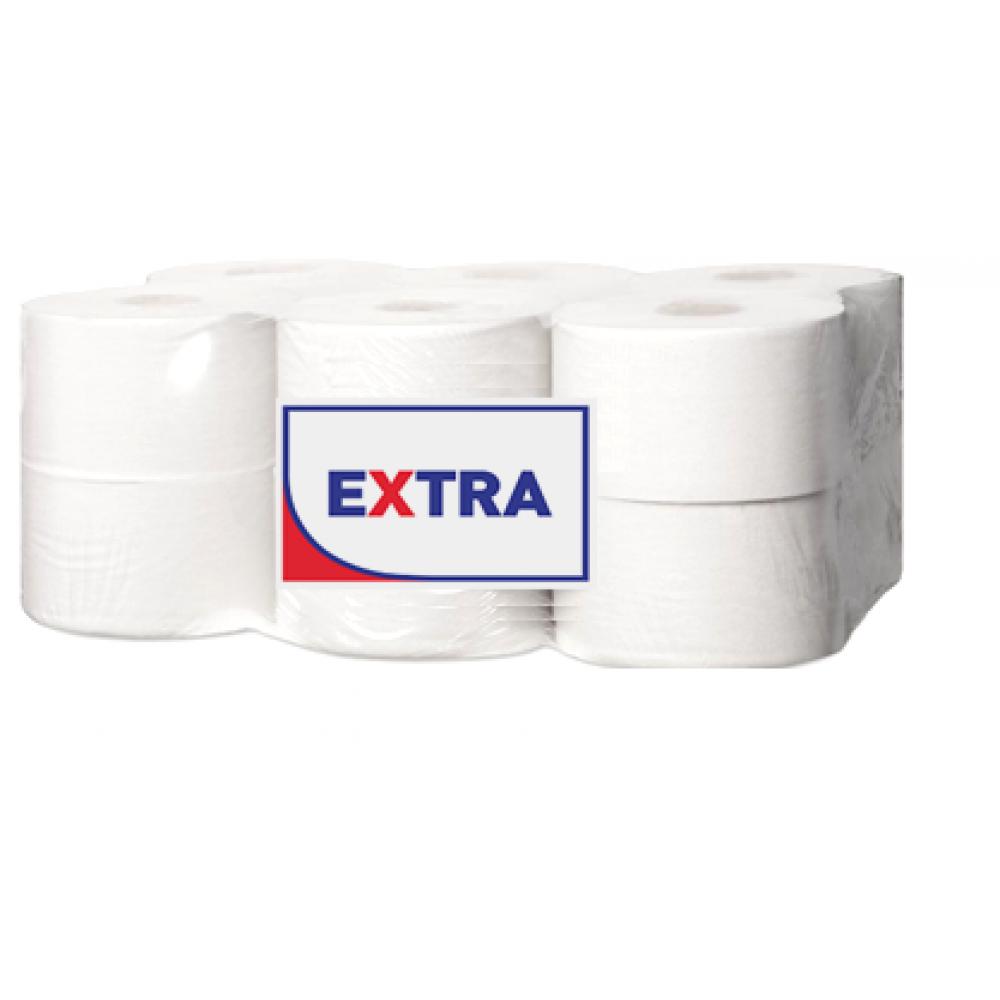 """10617Э/T2170 Туалетная бумага в средних рулонах """"EXTRA"""" 2 слоя, 170 метров"""