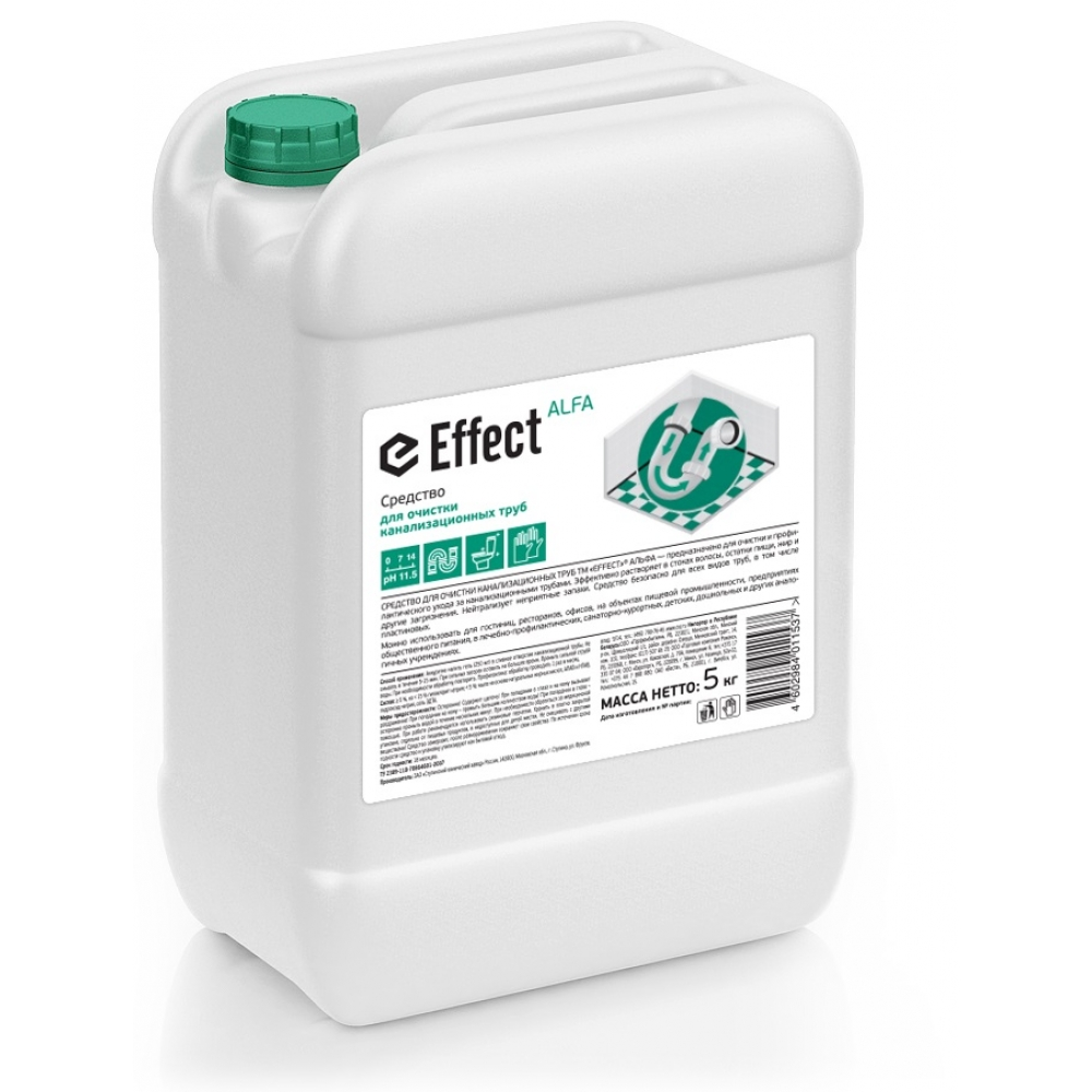 104 Effect ALFA 5 л ср-во д/очистки канализ. труб 5л 1/2