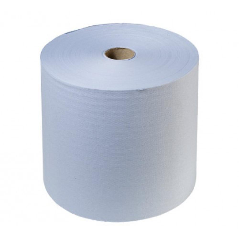 """33353 Э Протирочный материал """"EXTRA"""" 2 слоя, 100% целлюлоза, р\л: 33*35 см,1000 метров, синий"""
