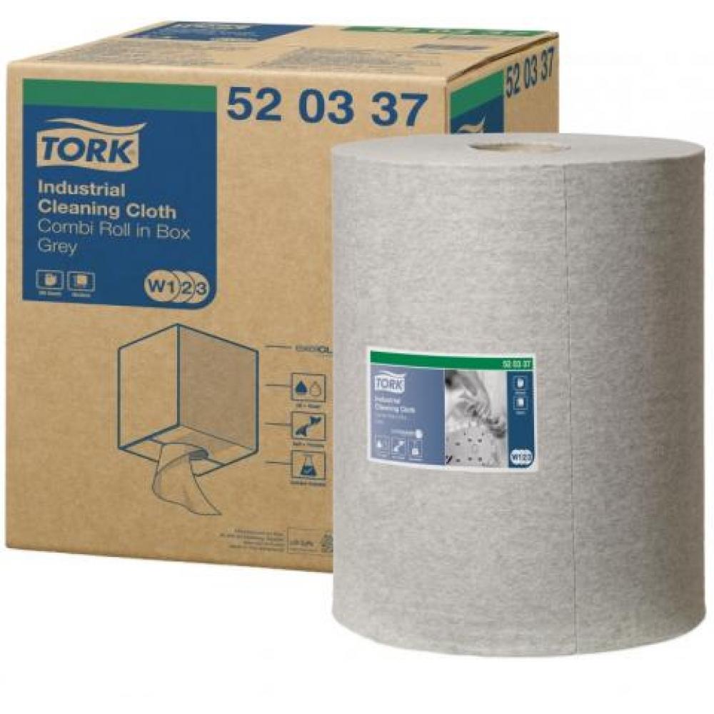 520337 Tork нетканый материал для удаления масла и жира в малом рулоне со съемной втулкой, серый